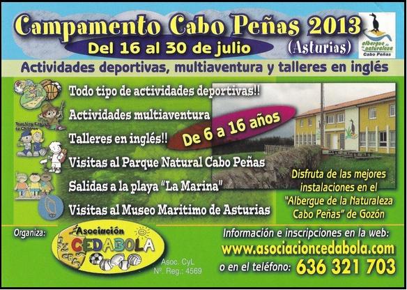 Cartel anunciador del campamento de Cedabola