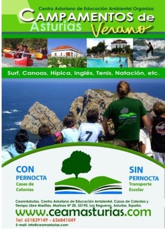 Campamento con y sin pernocta en Asturias ceam