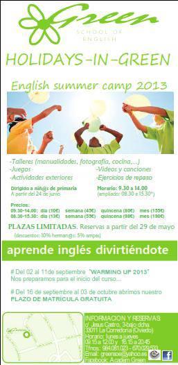 Campamento de inglés en Oviedo