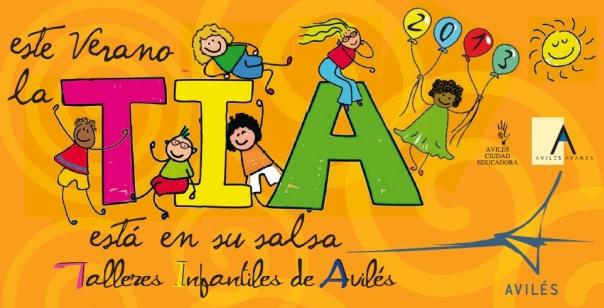 Logotipo talleres infantiles avilés en verano