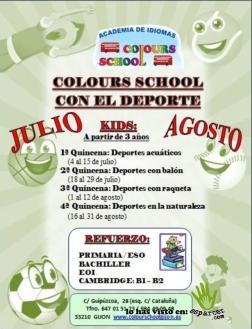 colours school deporte