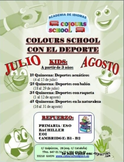 colours school deporte